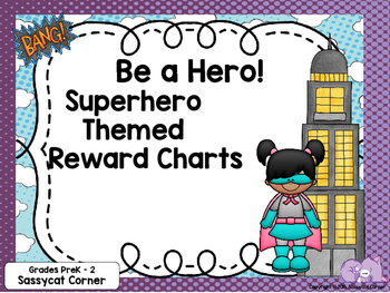 Superhero Reward Sticker Chartlets
