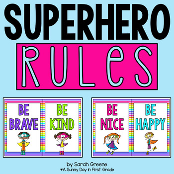 Superhero Rules! {banner or posters}