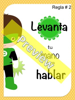 Superhero Rules in SPANISH