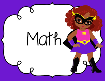 Superhero SCCCR Standards Cards 3rd Grade Math