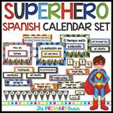 Superhero SPANISH Calendar Set Including Weather, Seasons, Math Power and more!