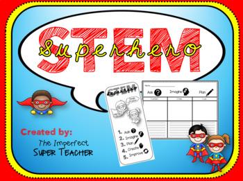 Superhero STEM: Journal, Bookmarks, Design Process
