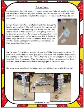 Superhero STEM Index Card Challenge