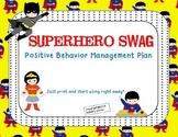 Positive Behavior Punch Cards-Superhero Theme