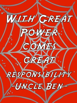 Superhero Sayings
