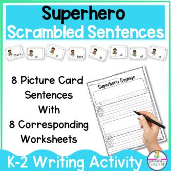 Superhero Sayings Sentence Building Activity