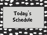 Superhero Daily Schedule (Editable)