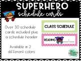 Superhero Schedule Cards