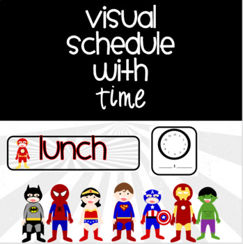 Superhero Schedule Cards {EDITABLE}