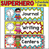 Schedule Cards - Superhero Classroom Materials - Editable Classroom Theme