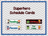 Superhero Schedule Cards