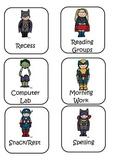 Superhero Schedule Cards and Classroom Jobs