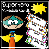 Superhero Schedule cards - Editable