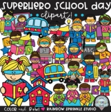 Superhero School Day Clipart