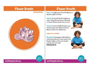 3 Card Preview of the Mindful Yoga Breaks Card Deck