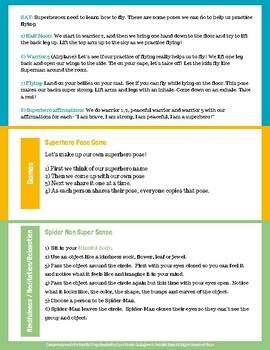 Superhero School Kids Yoga Lesson Plan