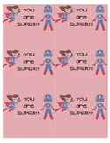 Superhero Scratch Rewards Card