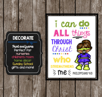 Superhero Scripture BUNDLE - Posters and Printable Decor