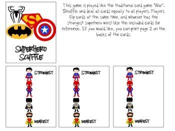 Superhero Scuffle Quick Drill Game