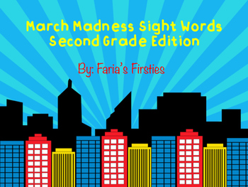 Superhero Second Grade Dolch Sight Words Game