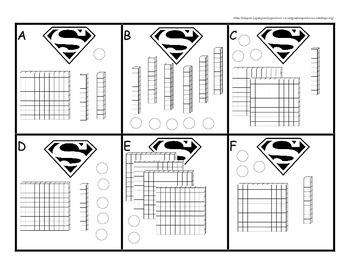 Superhero Second Grade Place Value Set