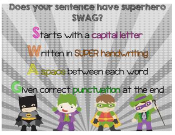 Superhero Sentence SWAG