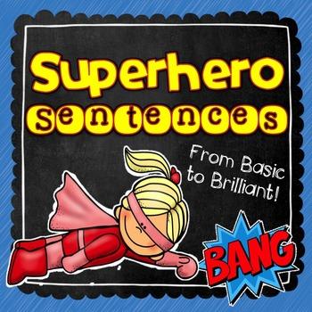 Superhero Sentences! Differentiated Writing Practice