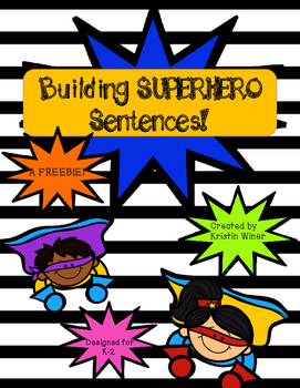Superhero Sentences Freebie!