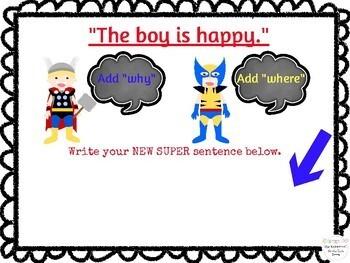 Superhero Sentences Language Lesson NO PRINT Teletherapy