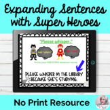 Expanding Sentences Activity No Print Speech Therapy | Dis