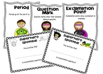Superhero Sentences: Punctuation Practice