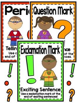 Superhero Sentences Reading Language Arts Punctuation Pack By Laura Ado