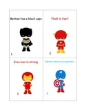 Superhero Shades of Meaning and Adjectives