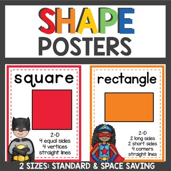 Superhero Themed Shape Posters