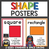 Shape Posters Superhero Classroom Decor