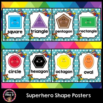 Superhero Shape Posters