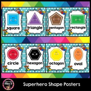 Superhero Shape Posters