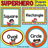 Superhero Shapes Cutouts