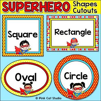 Superhero Shapes Cutouts