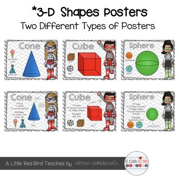 Superhero Shapes Posters