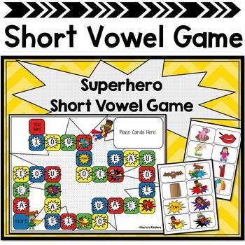 Superhero Short Vowel Candy Land
