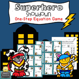 Superhero Showdown - One-step Equation Game