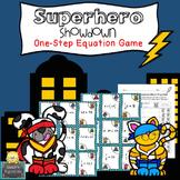 Superhero Showdown - One-step Equation Game