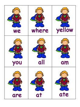 Superhero Sight Words