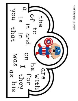 Superhero Sight Word Crowns