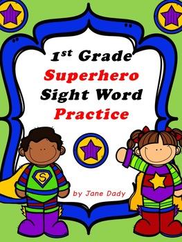 Superhero Sight Word Fun