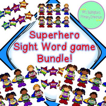 Superhero Sight Word Game Bundle!