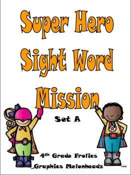 Superhero Sight Word Mission - Set A