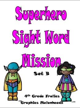 Superhero Sight Word Mission - Set B