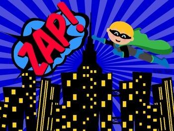 Sight Word Slide Show, Literacy First Kindergarten Words 51-100, Superheroes